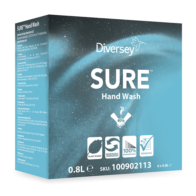 SURE Hand Wash 6x800ml (Soft Care Line)