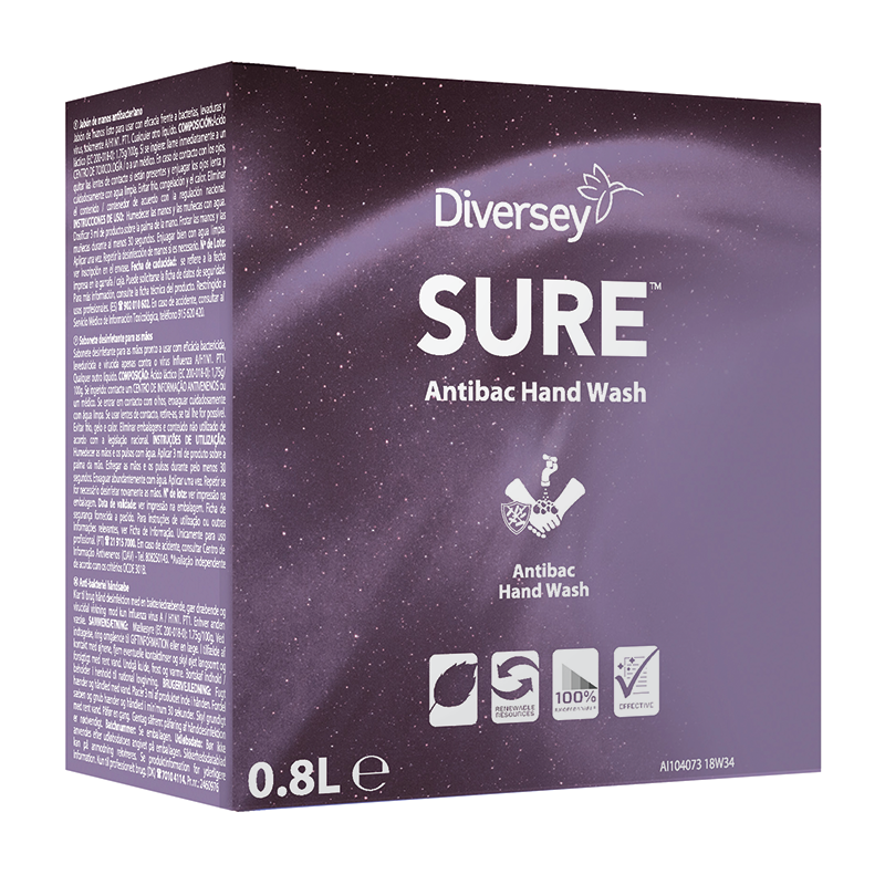 SURE Antibac Hand Wash 6x800ml (Soft Care Line)